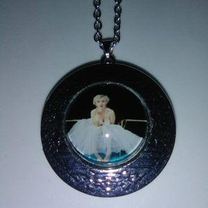Marilyn Monroe Locket Necklace & Chain